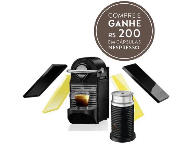 Kit Nespresso Pixie Clips Preto e Lima Neon & Aeroccino Preto