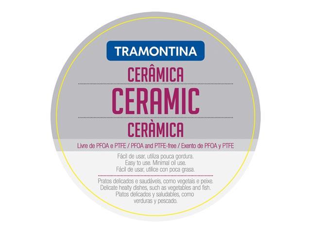 Frigideira Tramontina Ventura Aço Inox Ceramic 24 cm - 4