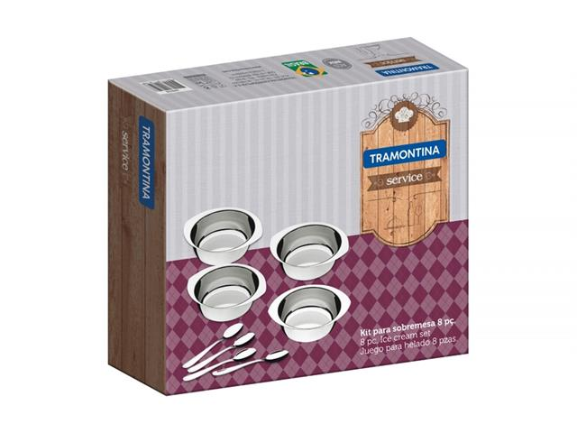 Kit para Sobremesa Tramontina Service Aço Inox 8 peças - 1