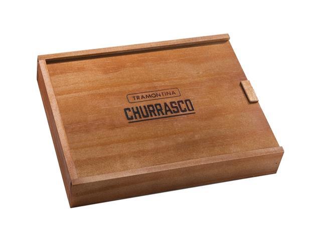 Conjunto Facas Serra para Churrasco com caixa Tramontina Inox 6 peças - 1