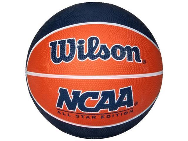 Bola de Basquete Wilson NCAA Mini Laranja/Azul #3