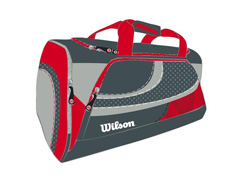 Bolsa Wilson Cinza/ Vermelho - 1