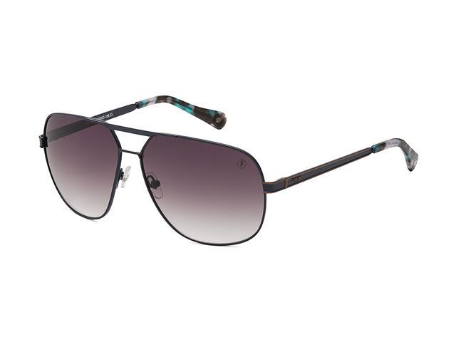 c1414f003f5ad Óculos de Sol Forum Marrom com ponteira Azul