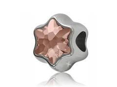 Becharmed Flor decorado com cristais da Swarovski®rose - 1