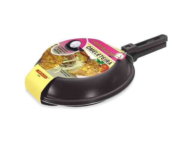 Omeleteira Fortaleza Preta 22 cm