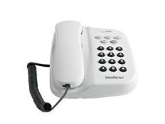 Telefone Intelbras com Fio TC 500 com Chave Branco