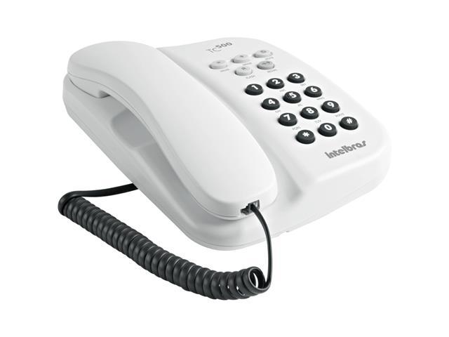 Telefone Intelbras com Fio TC 500 com Chave Branco - 1
