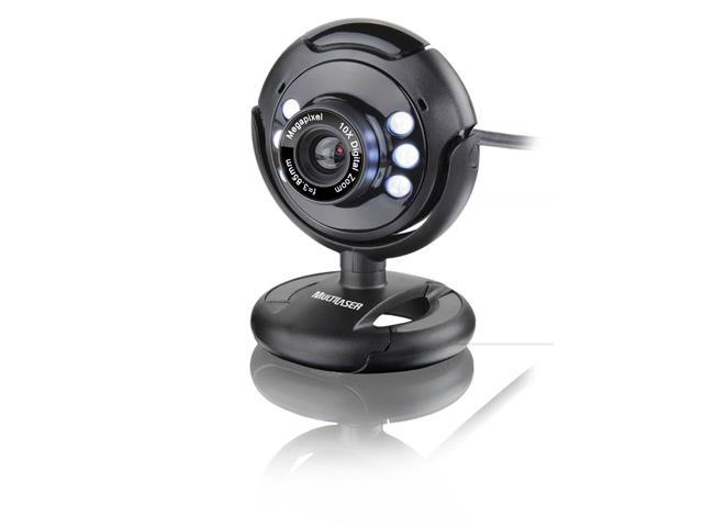 Webcam Multilaser Plug E Play 16mp Wc045 Usb Preto