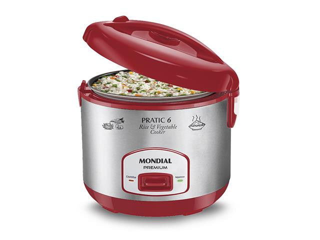 Panela Elétrica Pratic Rice 6 RED Premium - Mondial