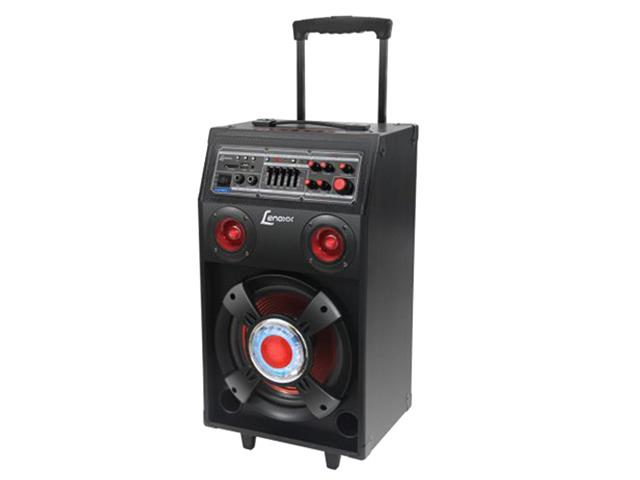 Caixa Amp. c/bateria recarregável,USB,MP3,cartão SD Lenoxx 150W - 1