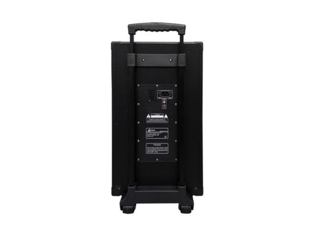 Caixa Amp. c/bateria recarregável,USB,MP3,cartão SD Lenoxx 150W - 2