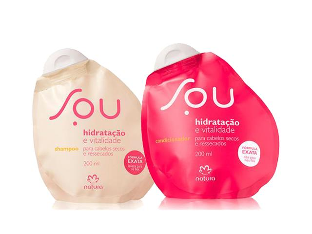 Combo Shampoo e Condicionador Natura Sou hidratação e vitalidade 200ml