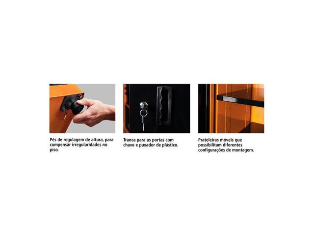 Armário Vert Ferramentas Tramontina PRO 1 porta 5 prateleiras c Visor - 1