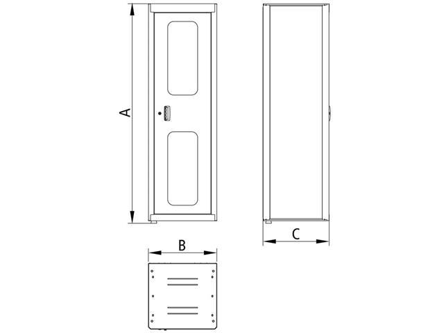 Armário Vert Ferramentas Tramontina PRO 1 porta 5 prateleiras c Visor - 3