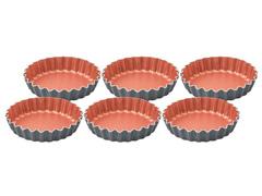 Jogo Mini Forma alumínio 6 peças Tramontina Bakery Cin