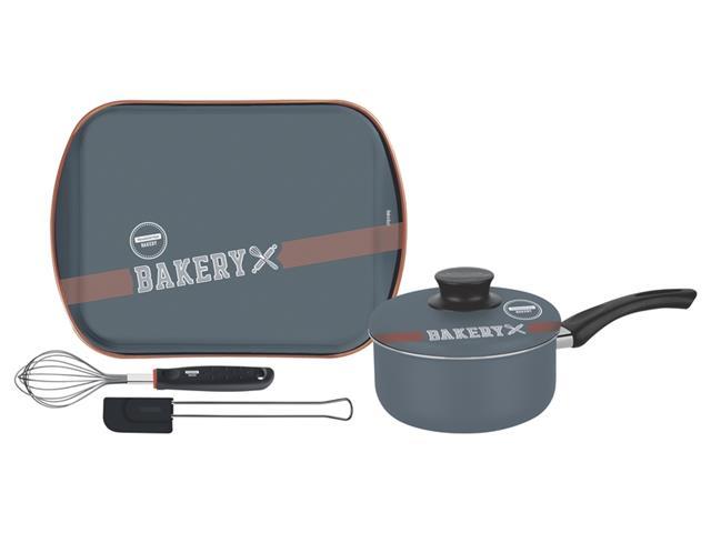 Kit para Bolo e Cobertura Tramontina Bakery Antiaderente 4 Peças
