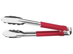 Pegador Tramontina Utilitá Aço Inox Cabo Emborrachado Vermelho 24 cm