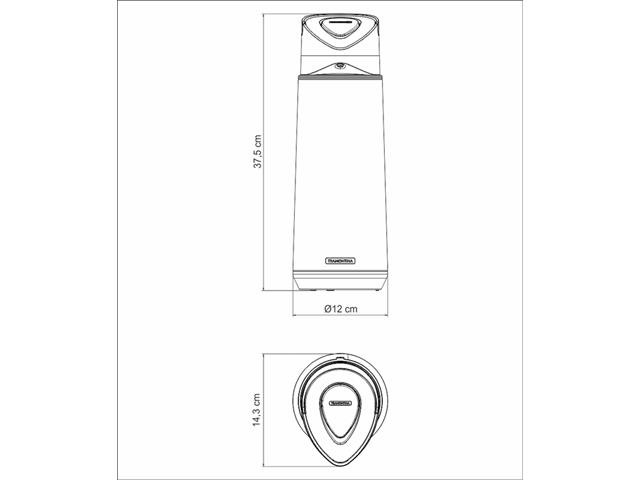 Garrafa Térmica Tramontina Exata em Inox com Ampola de Aço 2 Litros - 6