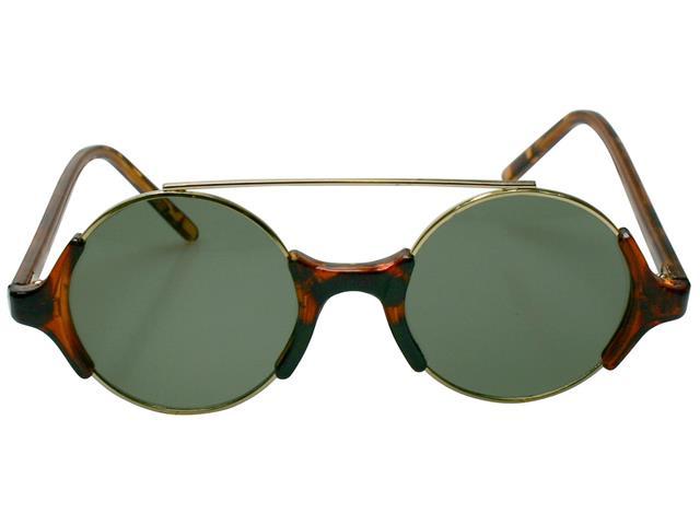 Óculos de Sol Unissex Tamanho Único Opus Marrom com detalhes Preto - 1