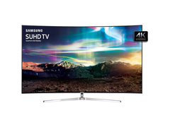 "Smart TV LED 65"" Curva Samsung Pontos Quânticos SUHD 4K 4 HDMI 240Hz - 0"