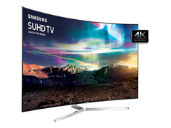 "Smart TV LED 65"" Curva Samsung Pontos Quânticos SUHD 4K 4 HDMI 240Hz - 4"