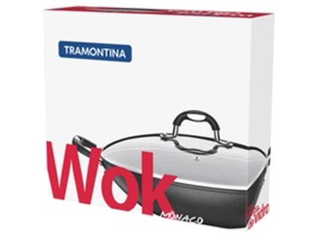Panela Wok Tramontina Mônaco Preta Ø 32 cm - 2
