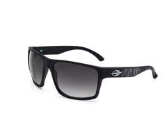 Óculos De Sol Mormaii Carmel Preto Fosco C/ Branco Rajado Extermo