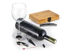 Acessórios Para Vinho Com Base Em Bambu 5Pçs - 3