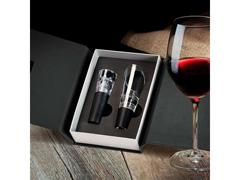 Acessórios Para Vinho Com Caixa Em Papelão Rígido Preto 2Pçs - 8