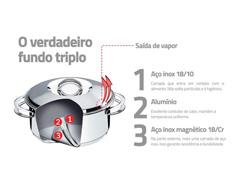 Caldeirão Tramontina Aço Inox C/Cabo Solar 16cm 2.2 Litros - 3