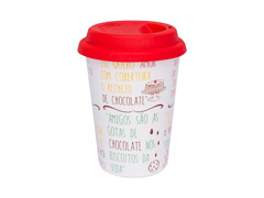 Copo Oxford Trip 300ml C/Tampa Silicone Chocolate - 2