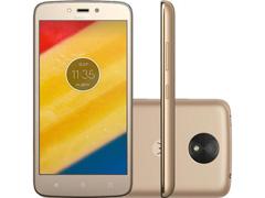 "Smartphone Motorola Moto C Plus 4G Dual Tela 5"" 8GB Câmera 8MP Ouro"