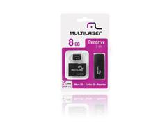 Pen Drive Multilaser 3 em 1 8GB