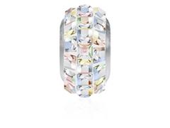BeCharmed Pavé Fino decorado com Cristal Swarovski® Aurora Boreal