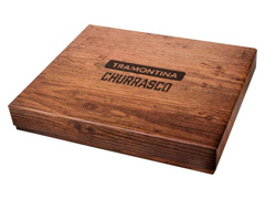 Kit de Churrasco Tramontina Inox Polywood Vermelho 15 Peças - 1