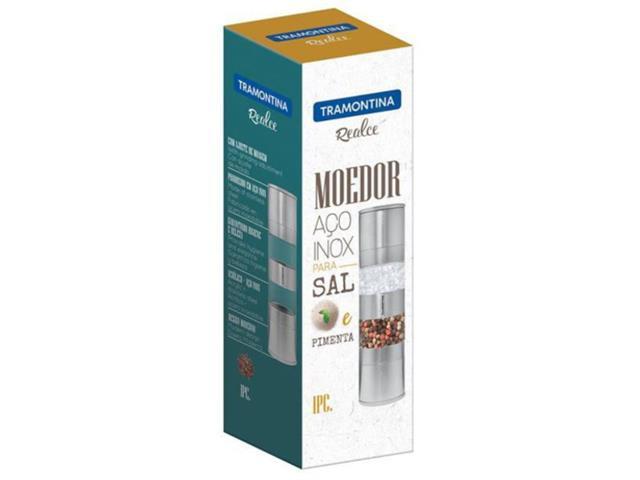Moedor de Pimenta e Sal Tramontina Duplo Realce Inox e Acrílico  - 1
