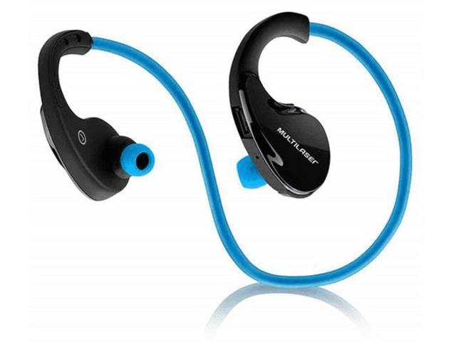 Fone de Ouvido Multilaser via Bluetooth com Arco Azul