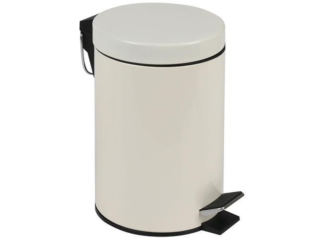 Kit Banheiro MOR Àgata Bege Escova Sanitária e Lixeira 3 Litros - 1