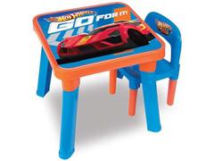 Mesa com Cadeira Infantil Hot Wheels