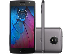 "Smartphone Motorola Moto G5S 4G 32GB Tela 5.2""Duos Câm 16+5MP Platinum"