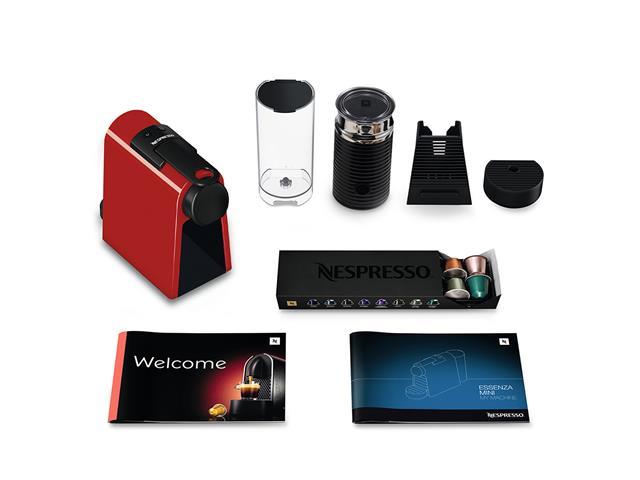 Kit Nespresso Essenza Mini Red + Aeroccino 3 com Kit Boas Vindas 110V - 7