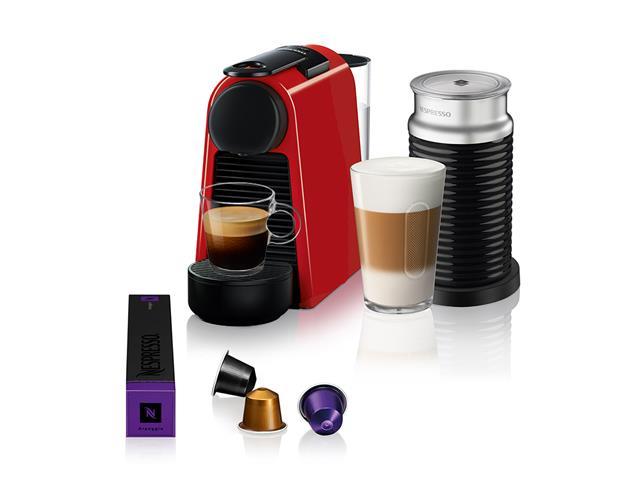 Kit Nespresso Essenza Mini Red + Aeroccino 3 com Kit Boas Vindas 110V