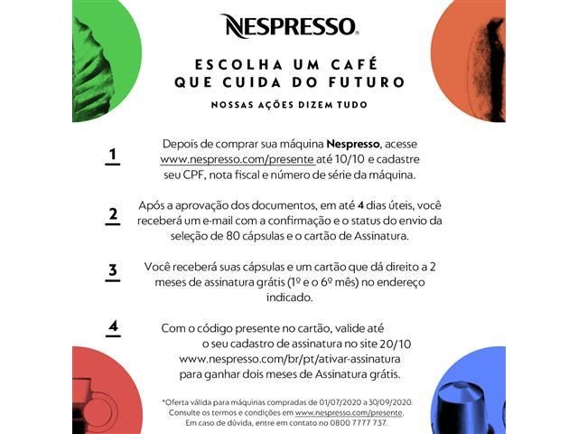 Cafeteira Nespresso Automática Essenza Kit Boas Vindas Mini White - 1