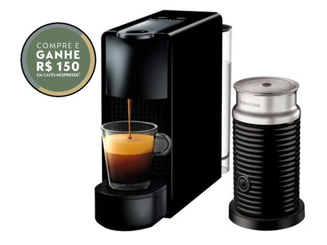 Kit Nespresso Essenza Mini Black + Aeroccino 3