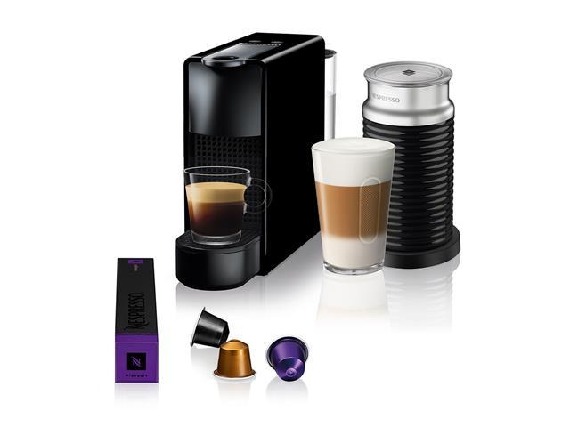 Kit Nespresso Essenza Mini Black + Aeroccino3 com Kit Boas Vindas
