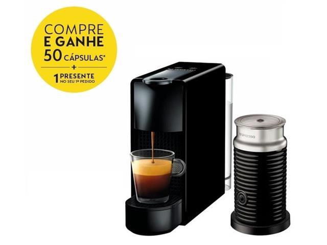 Kit Nespresso Essenza Mini Black + Aeroccino 3