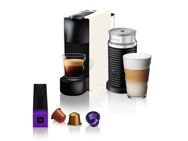 Kit Nespresso Essenza Mini White + Aeroccino3 com Kit Boas Vindas