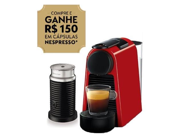 Kit Nespresso Essenza Mini Red + Aeroccino 3