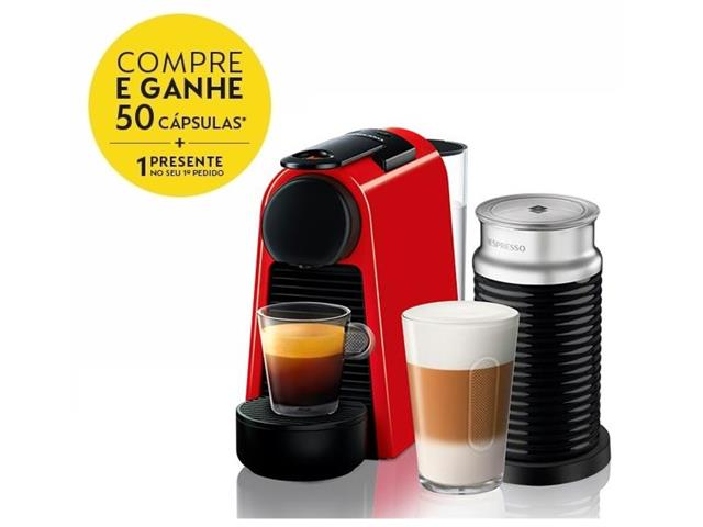 Kit Nespresso Essenza Mini Red + Aeroccino 3