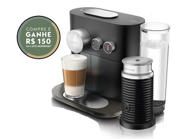 Kit Nespresso Cafeteira Expert Black & Aeroccino 3